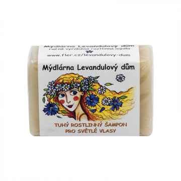 Mýdlárna Levandulový dům Tuhý šampon pro světlé vlasy 120 g
