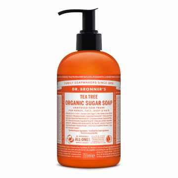Dr. Bronner´s Tekuté mýdlo na tělo i vlasy Shikakai, Teatree 355 ml