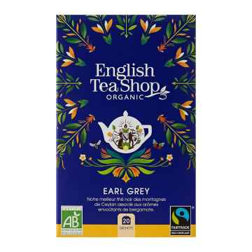 English Tea Shop Černý čaj Earl Grey, bio 40 g, 20 ks