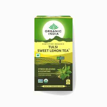 Organic India Čaj Tulsi Sweet Lemon, porcovaný 18 ks, 32,4 g
