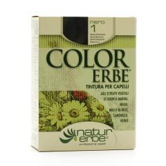 Color Erbe Barva na vlasy Černá 01, Natur 135 ml