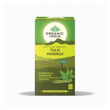 Organic India Čaj Tulsi Moringa, porcovaný 18 ks, 36 g