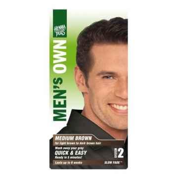 Henna Plus Barva pro muže Hnědá 80 ml