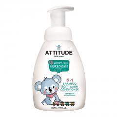 Attitude Dětské tělové mýdlo, šampon a kondicionér 3v1 s vůní hrušky 300 ml