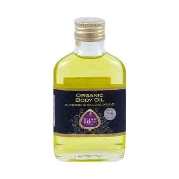 Eliah Sahil Ájurvédský bio mandlový tělový olej se santalem 100 ml