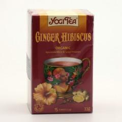 Golden Temple Čaj Yogitea Ginger Hibiscus 17 ks, 33 g