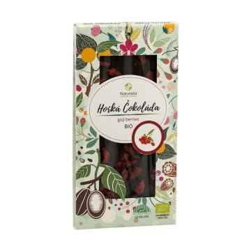 Naturalis Čokoláda hořká s goji berries, bio 80 g