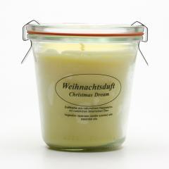 Kerzenfarm Přírodní svíčka Christmas Dream, čiré sklo 8,7 cm