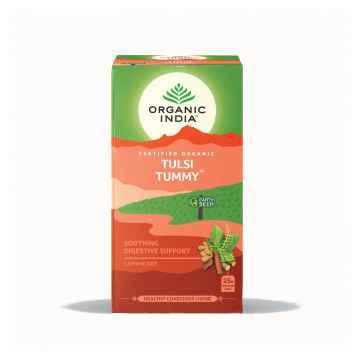 Organic India Čaj Tulsi Wellness pro správné trávení, bio 32,4 g, 25 ks