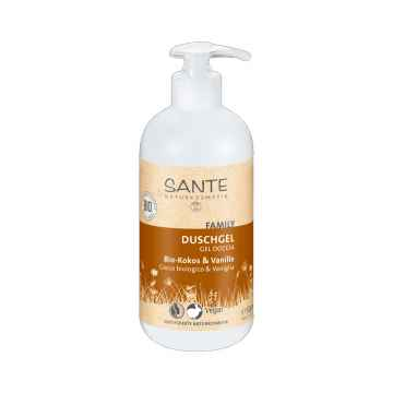 SANTE Sprchový gel bio kokos a vanilka, Family 500 ml