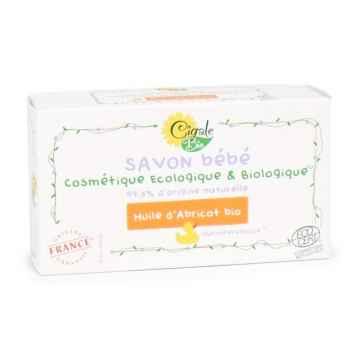 Cigale BIO Marseillské koupelové mýdlo Baby s meruňkovým olejem 100 g
