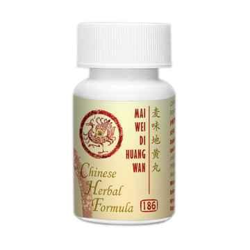 Lanzhou Pharmaceutical TCM formule 186 Mai Wei Di Huang Wan 33 g, 192-200 ks (kuliček)