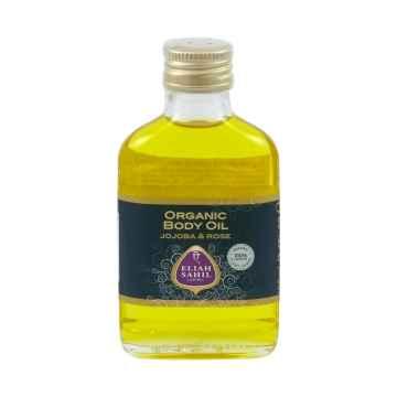 Eliah Sahil Ájurvédský bio jojobový tělový olej s růží 100 ml