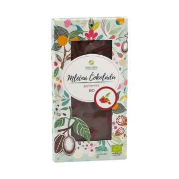 Naturalis Čokoláda mléčná s goji berries, bio 80 g