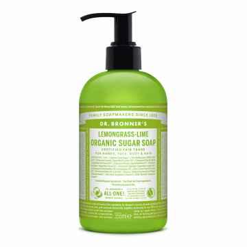 Dr. Bronner's Tekuté mýdlo na tělo i vlasy Sugar-Shikakai, Lemongrass-Lime 355 ml