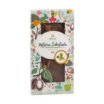 Naturalis Čokoláda mléčná s moruší bílou, bio 80 g