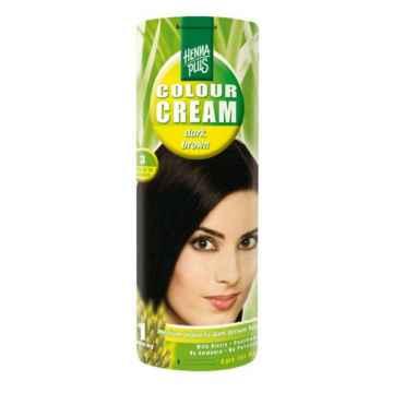 Henna Plus Krémový přeliv Tmavě hnědá 3 60 ml