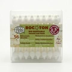 Bocoton Vatové tyčinky z biobavlny pro děti, cotton safety buds 56 ks