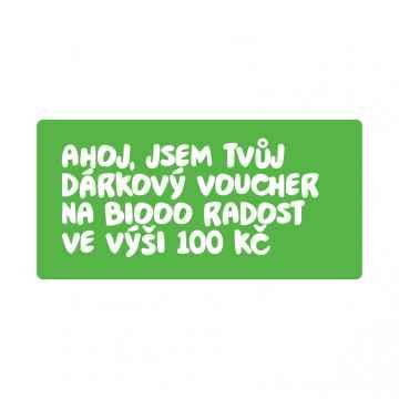 BiOOO Dárkový voucher 100 Kč 1 ks