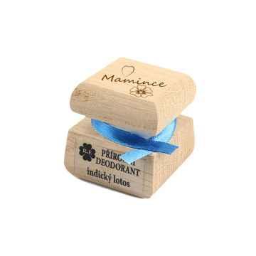 RaE Přírodní krémový deodorant s vůní indického lotosu Mamince 15 ml dřevěný obal