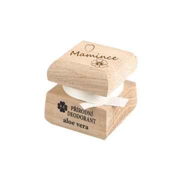 RaE Přírodní krémový deodorant s vůní aloe vera Mamince 15 ml dřevěný obal