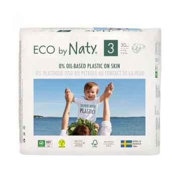 Eco by Naty Plenky Midi 4 - 9 kg  30 ks (9,63 Kč/ks)