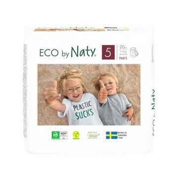 Eco by Naty Natahovací plenkové kalhotky Junior 12-18 kg 20 ks
