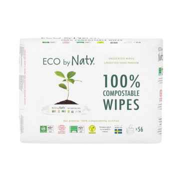 Eco by Naty Vlhčené ubrousky Naty bez vůně pro citlivou pokožku (výhodné balení) 168 ks