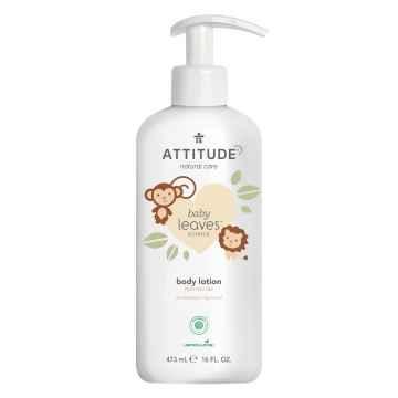 Attitude Dětské tělové mléko Baby leaves s vůní hruškové šťávy 473 ml