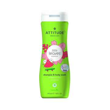 Attitude Dětské tělové mýdlo a šampon (2 v 1) Little leaves s vůní melounu a kokosu 473 ml