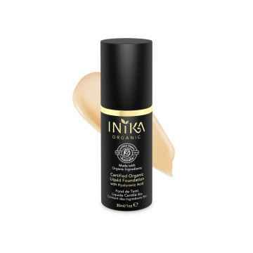 Inika Organic Tekutý make-up s kyselinou hyaluronovou, Beige 30 ml
