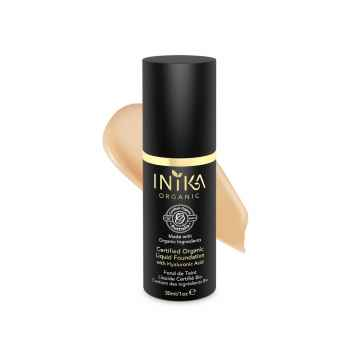 Inika Organic Tekutý make-up s kyselinou hyaluronovou, Honey 30 ml