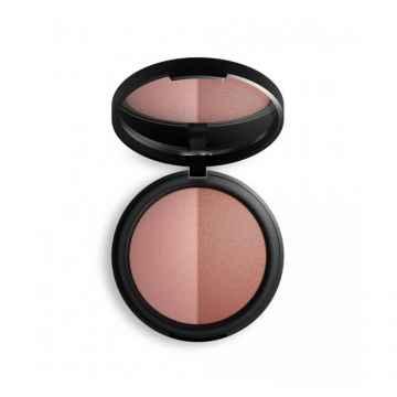 Inika Organic Zapečená minerální duo tvářenka, Burnt Peach Duo 8 g