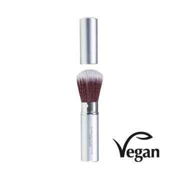 Barbara Hofmann Bamboo blush brush, retractable, bambusový štětec červený zasouvací 1 ks