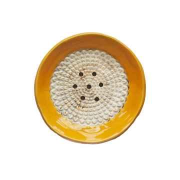 Almara Soap Keramická mýdlenka kulatá - oranžová 400 g