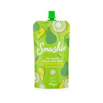 Smushie BIO Ovocné smoothie s hruškou, kiwi a spirulinou 170 g
