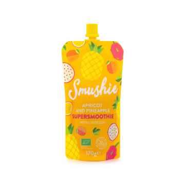 Salvest Smushie BIO Ovocné smoothie s meruňkou, ananasem a lněnými semínky 170 g