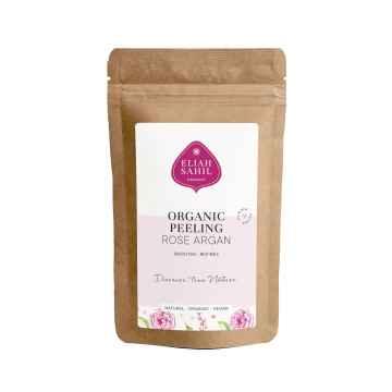 Eliah Sahil Organic Tělový peeling růže a argan vzorek 15 g