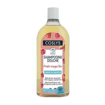 Coslys Sprchový šampon bez mýdla 2 v 1 na vlasy a tělo červené bobule 750 ml