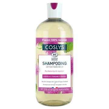 Coslys Šampon pro mastné vlasy lopuch a oves 500 ml