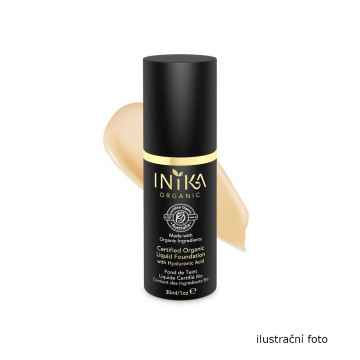 Inika Organic Tekutý make-up s kyselinou hyaluronovou, Beige 4 ml