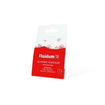 Fluidum Té Summer Karkade, tekutá čajová směs, bio 2 ks