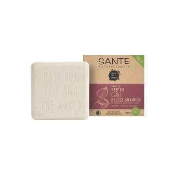 SANTE FAMILY Tuhý šampon na lesk Bio Březové lístky & Rostlinné proteiny 60 g