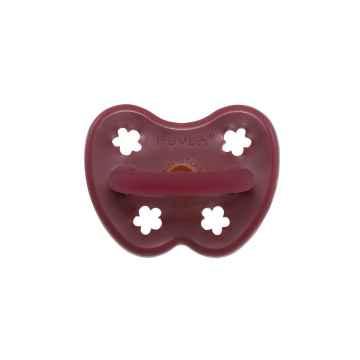 HEVEA Kulatý dudlík z přírodního kaučuku Ruby Red 3 - 36 M