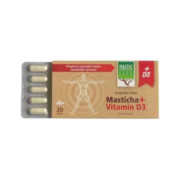 Masticlife Original Chios Masticha + Vitamin D3, kapsle 20 ks