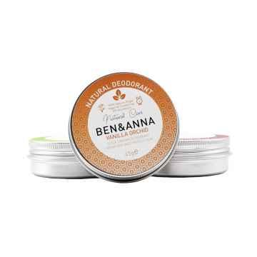 Ben & Anna Tuhý deodorant v kelímku 45 g, vanilka a orchidej