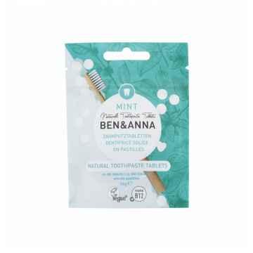 Ben & Anna Zubní pasta v tabletách máta 36 g, bez fluoridu