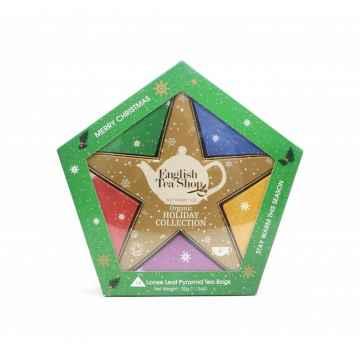 English Tea Shop Sada se zlatou vánoční hvězdou 16 ks