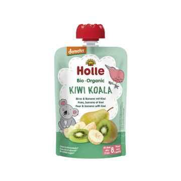 Holle Kiwi Koala Bio ovocné pyré hruška, banán, kiwi 100 g