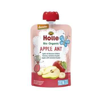 Holle Apple Ant Bio ovocné pyré jablko, banán, hruška 100 g